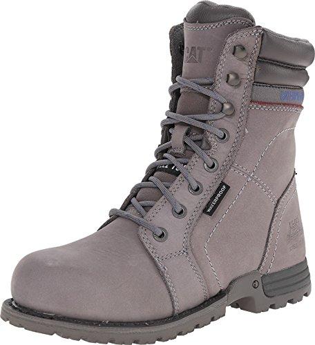 (Caterpillar Women's Echo Waterproof Steel Toe Frost Grey 7 D US )