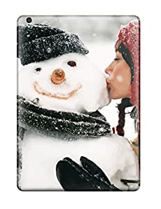 Alicia Russo Lilith's Shop Pretty Ipad Air Case Cover/ A Girl Kissing A Snowman Series High Quality Case