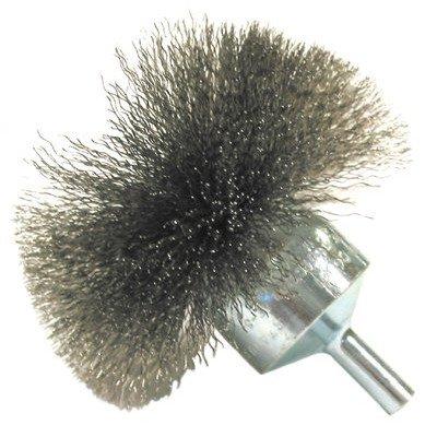 "Circular Flared End Brushes-NF Series - nf14 1-1/2"" .006 carbonend brush circular fl [Set of 10]"