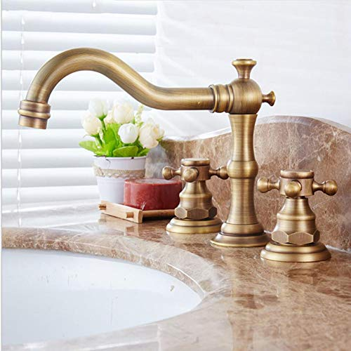 Lead-Free Brass Center-Set Bathroom Sink Faucet with Ceramic Valve and Full-Copper Lift Pop-up Drain Assembly, Brushed Nickel PVD
