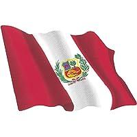 Artimagen Pegatina Bandera Ondeante Perú pequeña 65x50 mm.