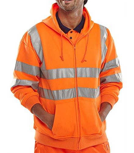 shirt Manches Unique Hoodie Taille 21fashion Longues Up À Sweat Orange Zip Homme Capuche SxwqF5gR