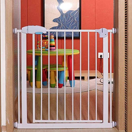 Huo Metal Safety Gate One-Hand Operation and Durability Pressure Mount Baby Stair Gate (Size : 168-174cm)