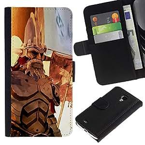 All Phone Most Case / Oferta Especial Cáscara Funda de cuero Monedero Cubierta de proteccion Caso / Wallet Case for Samsung Galaxy S4 Mini i9190 // War old hero