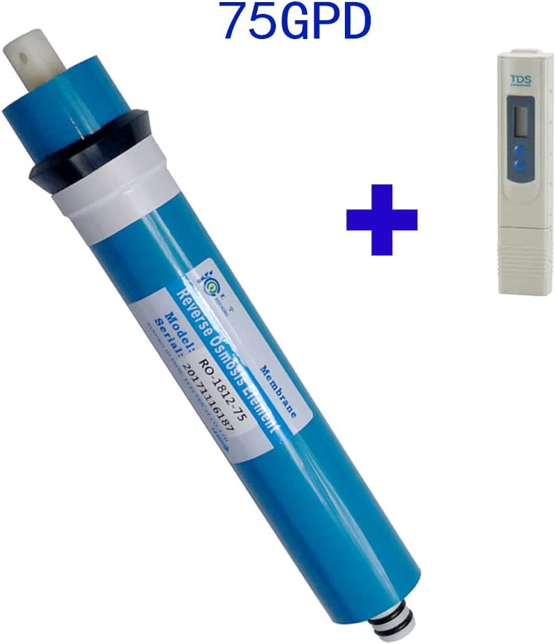 75 GPD 75gpd Membrane Huining Membrana per osmosi inversa Membrana RO 50 GPD 100 GPD 100 GPD e Tester TDS
