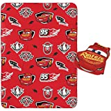 Jay Franco Disney/Pixar Cars Plush Pillow and 40 Inch x 50 Inch Throw Blanket - Kids Super Soft 2 Piece Nogginz Set (Official Disney/Pixar Product)