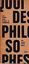 Pourquoi des philosophes par Revel