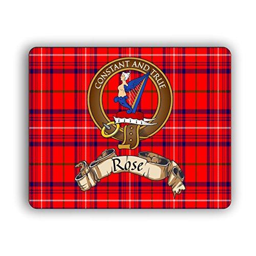 Scottish Clan Rose Tartan Crest Computer Mouse Pad