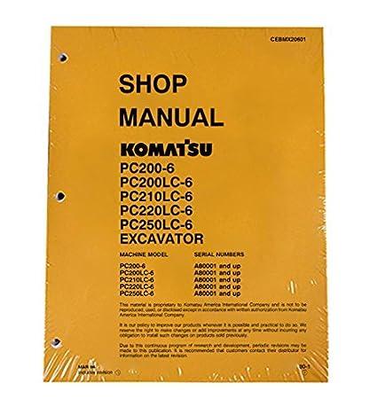 Amazon Komatsu Pc2006 200lc6 Pc210lc6 220lc6 Pc250lc6. Komatsu Pc2006 200lc6 Pc210lc6 220lc6. Wiring. Komatsu Pc220lc Wiring Diagram At Scoala.co