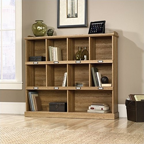 Sauder 414724 Barrister Lane Bookcase, L: 53.15'' x W: 12.13'' x H: 47.52'', Scribed Oak finish by Sauder