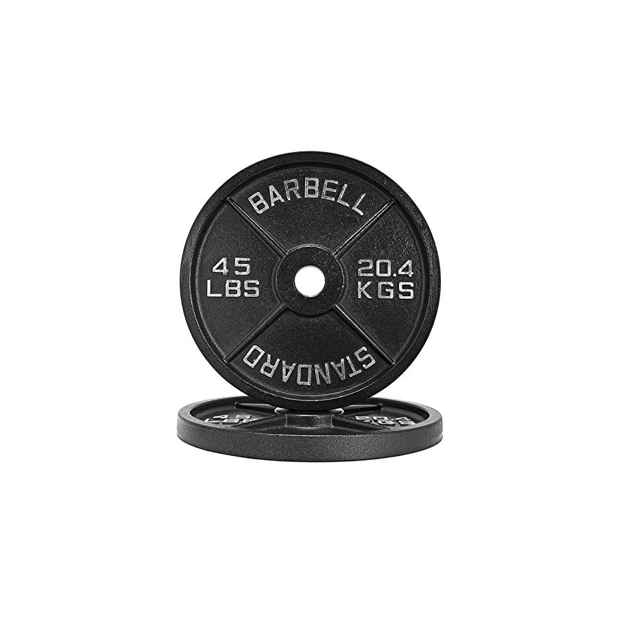 1.25lb 45lb Iron Weight Plate Pairs / Weightlifting, Powerlifting, & Other Strength Training Equipment