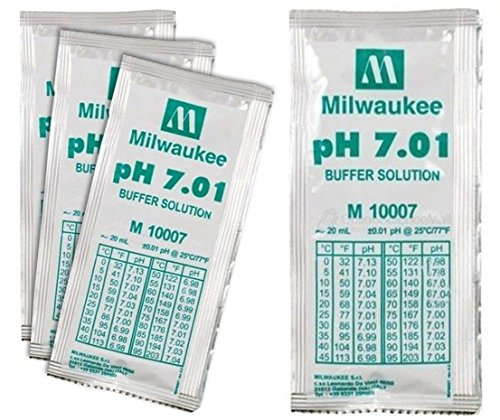Packet 7.01 Buffer (3 Pcs Unrivaled Popular pH7.01 Buffer Solution Acid Alkaline Packets Tester Volume 20mL)