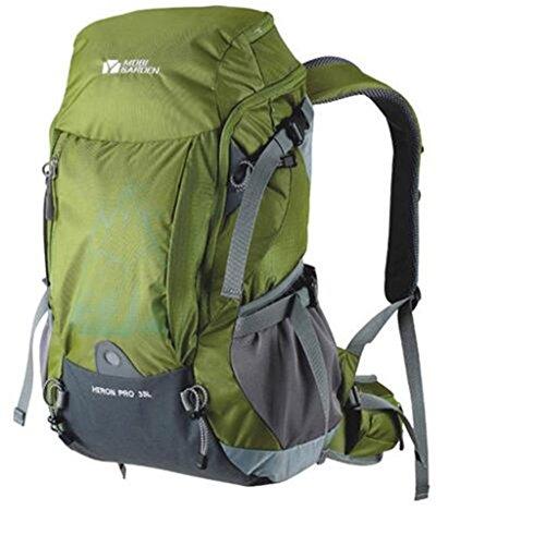 Los modelos de pareja equipo al aire libre cubierta de montañismo viajes de camping mochila 38L lluvia ( Color : Amarillo , Tamaño : 38L ) Verde