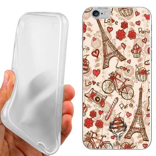 CUSTODIA COVER CASE PARIS VINTAGE PER IPHONE 6 4.7 POLLICI