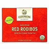 ROOIBOS ROCKS ROOIBOS TEA - 40 USDA ORGANIC TEA BAGS, South African Caffeine Free Red Tea - Pure, Natural, Healthy Living, Gluten Free, Calorie Free and Sugar Free, Antioxidant Rich, Herbal Tea Drink