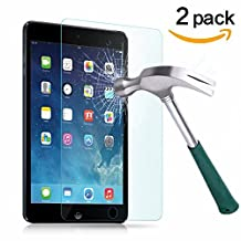 TANTEK Anti-Scratch, Anti-Glare, Anti-Fingerprint and Bubble-Free Tempered Glass Screen Protector for 7.9-Inch iPad Mini 1/2/3 - Clear (2-Pack)