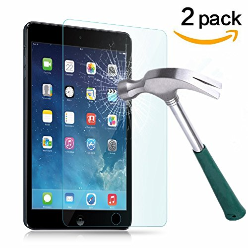 TANTEK Anti-Scratch, Anti-Glare, Anti-Fingerprint and Bubble-Free Tempered Glass Screen Protector for 7.9-Inch iPad Mini 1/2/3 - Clear (2-Pack) (Mini I Pad Screen Replacement)