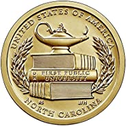 2021 P, D American Innovation North Carolina - First Public University $1 Coin - P and D 2 Coin Set Uncircualt