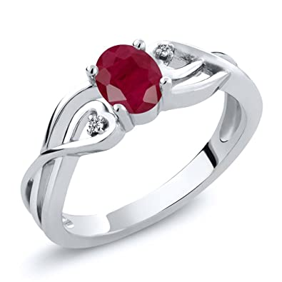 Natural African Ruby Wedding Ring 925 Sterling Silver Fine Jewelry Christmas New Jewelry & Watches Engagement & Wedding