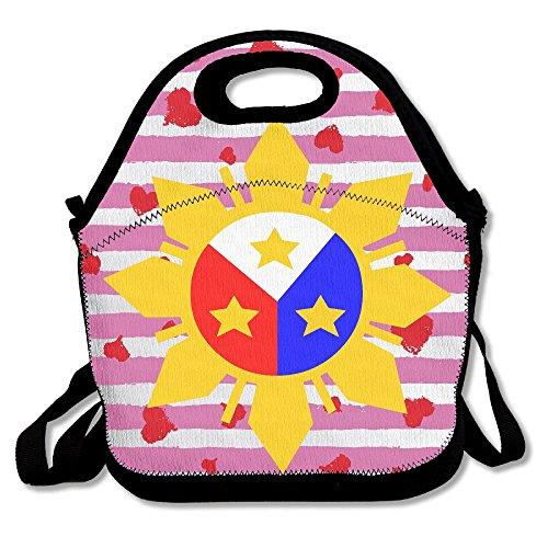 Logo Snack - Philippine Flag Logo Design Lunch Tote Reusable Snack Tote For Men Women Kids