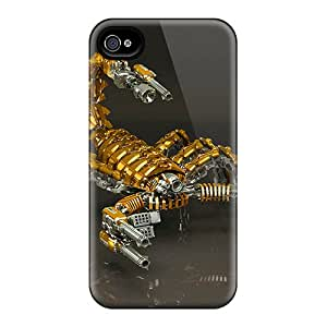 OTcase Scratch-free Phone Case For Iphone 4/4s- Retail Packaging - 3d Scorpion