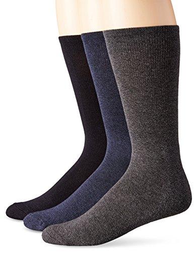 Calvin Klein Men's 3 Pack Orlando Pima Cotton Crew Sock, Navy, 10-13/7-12 by Calvin Klein