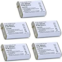 5 Pack of Panasonic KX-TD7694 Battery - Replacement Panasonic Cordless Phone Battery (800mAh, 3.6V, NIMH)