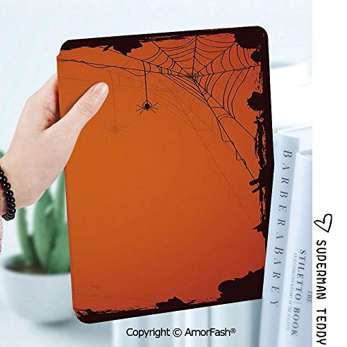 Case for Samsung Galaxy Tab A 8.0 2017 Model T380 / T385, Smart Slim Shell Stand,Spider Web Grunge Halloween Composition Scary Framework with Insects Abstract Cobweb]()