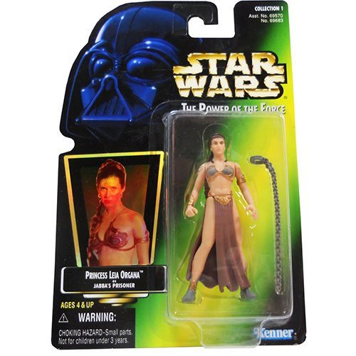 Star Wars Power of the Force Green Card 3 3/4 Princess Leia Organa as Jabba's Prisoner Action Figure by Star -