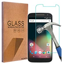 Motorola Moto G4 / Moto G (4th Generation) Screen Protector, NOKEA [Tempered Glass] with [9H Hardness] [Crystal Clear] [Easy Bubble-Free Installation] [Scratch Resist] (for Moto G4)