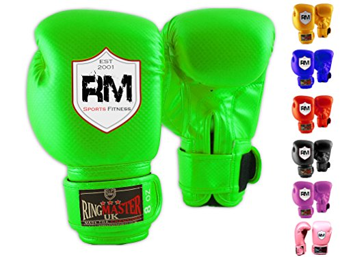 Ringmaster Sports Kids Boxing Gloves Carbon Leather Training Sparring Punch Bag Mitt