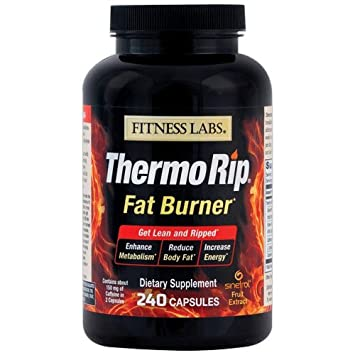 Fitness Labs Thermo Rip Fat Burner with Sinetrol Xpur, Green Tea, Caffeine, L-Tyrosine and Cayenne, 120 Servings