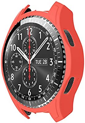 STRIR Carcasa para Smartwatch Gear,a Prueba de Golpes y Suciedad, para Smartwatch Samsung Gear S3 Frontier (Rojo)