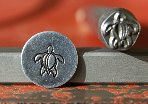 SUPPLY GUY 7mm Single Metal Punch Design Stamp: Nautical & Ocean Life, Made in USA (Not a Set) (SEA TURTLE SGK-11)