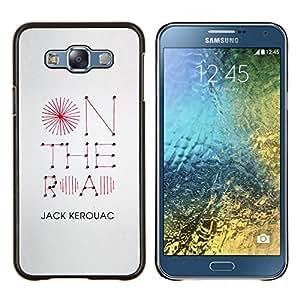 Caucho caso de Shell duro de la cubierta de accesorios de protección BY RAYDREAMMM - Samsung Galaxy E7 E700 - en el camino