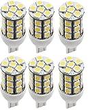 6 x LED Green Value LED 25004V-06 921 Base Tower LED Replacement Bulb 250 LUM 8-30v Natural White