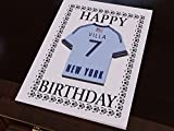MyShirt123 MAJOR LEAGUE SOCCER - MLS TEAM FRIDGE MAGNET GREETING CARDS - FREE PERSONALISATION - ANY NAME, ANY NUMBER, ANY COLOURS !!!!! (New York City FC MLS Fridge Magnet Greeting Card)