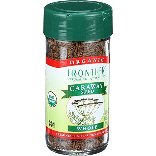 Frontier Herb Organic Whole Caraway Seed, 1.90 Ounce - 6 per case
