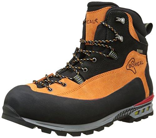 Boreal Brenta-Chaussures de montagne unisexe orange et noir, taille 12.5