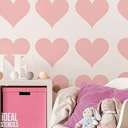 grande amore a forma di cuore stampo ragazze vivaio CASA MURO DECORAZIONE /& ARTIGIANATO Stampo pittura pareti TESSUTI /& ARREDAMENTO 190 MYLAR riutilizzabile Stencil