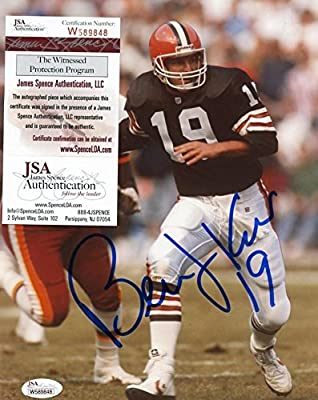Bernie Kosar Cleveland Browns #19 Signed 8x10 Photo - JSA Authentic