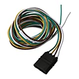 MKChung Trailer Sockets, 3m 4-pin Plug Trailer Wiring Harness Extension Cable Adapter for American type Trailers