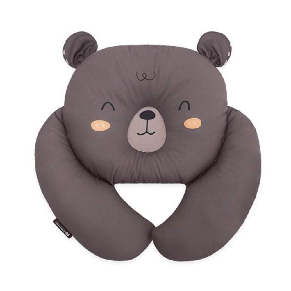 Bebenuvi Baby to Toddler Multi Stroll Neck Pillow Baby Travel Pillow Infant Newborn Head and Neck Support Pillow for Car Seat, Stroller, Airplane, Pushchair, Head Support, 14.9'' x 14.1'', Dark Brown