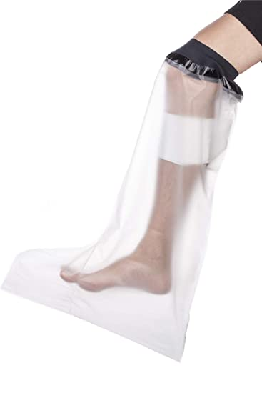 Adult Lower Leg Shower Cast Covers Waterproof Leg Cast and Bandage  Protector, Watertight to Keep Dry
