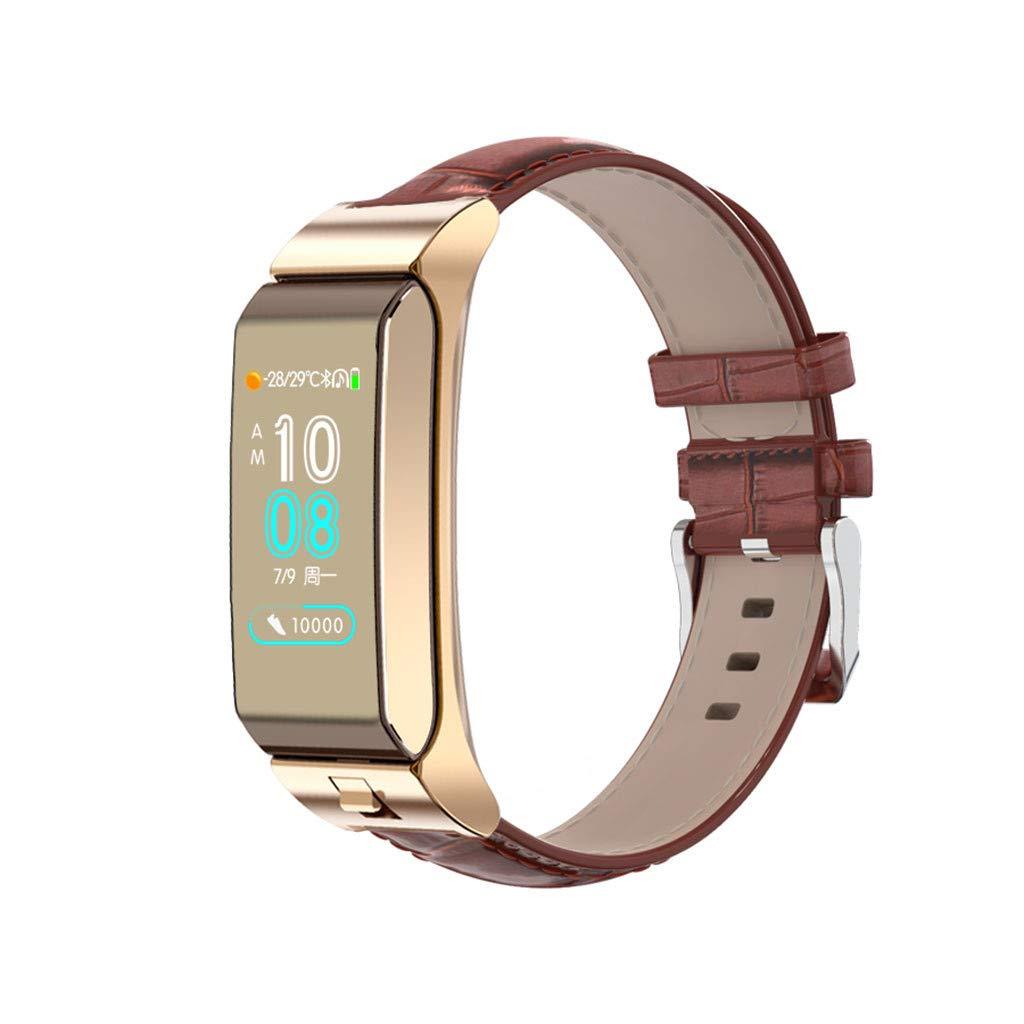 Smat Watch, Puyujin Fitness Tracker Blood Pressure Heart Rate Monitor Smart Watch Sports Bracelet (Gold)