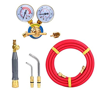 8milelake Air Acetylene Kit Torch Kit Swirl with 1 piece Acetylene Regulator CGA 200 Welding Gas Welder
