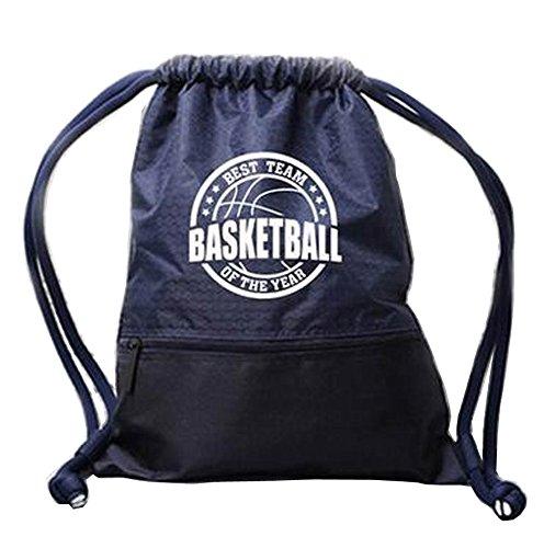 [Dunkelblau] Faltbarer Basketball-Rucksack-Tunnelzug-Beutel-Eignung-Beutel
