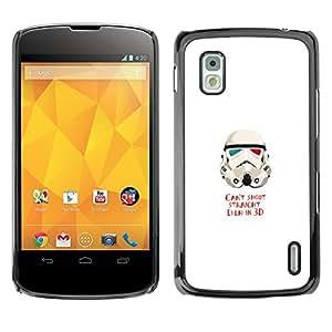 EJOY---Cubierta de la caja de protección la piel dura para el / LG Nexus 4 E960 / --No puede disparar St0Rmtrooper Heterosexual