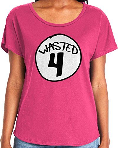 Amdesco Ladies Wasted 4 Dolman T-Shirt, Hot Pink XL]()