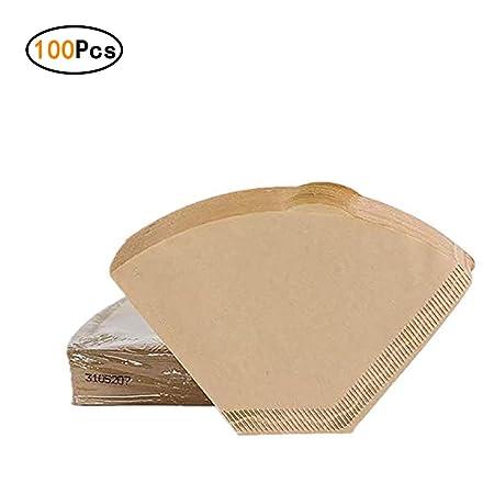 Zhongke Filtros de café desechables Conos de papel sin blanquear ...